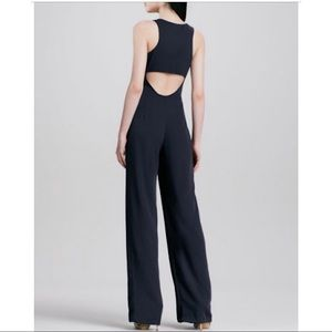 THEORY Lindla Cut Out Sleeveless Wide-Leg Jumpsuit